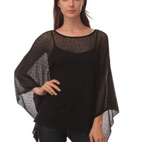 525 America Poncho Top - Black