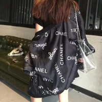 DCCKCO2 Chanel' Women Casual Fashion Letter Print Coat Embroidery Short Sleeve Tops Three-Piece Set [2974244292]