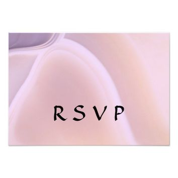 Trendy Girly Rose Pink Crystal Sweet 16 Party RSVP 3.5x5 Paper Invitation Card
