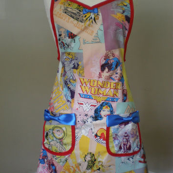 Wonder woman  Supergirl Batgirl apron Limited Edition