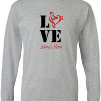 Band mom shirt.  Personalized with musician's name.  Band love.  Music love.