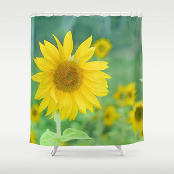 Sunflowers. Vintage dreams Shower Curtain by Guido Montañés