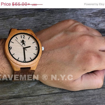 SALE Wood Watch. Mens Watch. Engrve Watch. Personalized Watch. Mens. Mens Watches. Mens Personalized Watch. Chicago Face. Chicago Watch. Kav