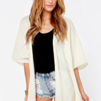 Billabong Whisper With Me Cream Kimono Top