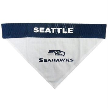 LMFON Seattle Seahawks Pet Reversible Bandana