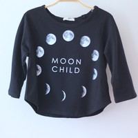 Moon Child Crop Sweater