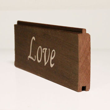 "Rustic Wooden Home Decor Sign- ""Love"""