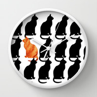 ODD CAT OUT Wall Clock by catspaws