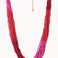 FOREVER 21 Bold Colorblocked Beaded Necklace
