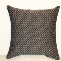 "Pillow Covers 18"" Set of Two - Gray and Black Geometric Pattern"