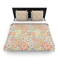 """Julia Grifol """"My Happy Flowers in Red"""" Lightweight Duvet Cover"""