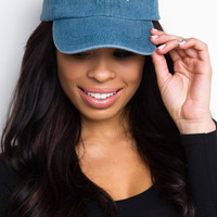 Bad Hair Day Baseball Cap - Denim