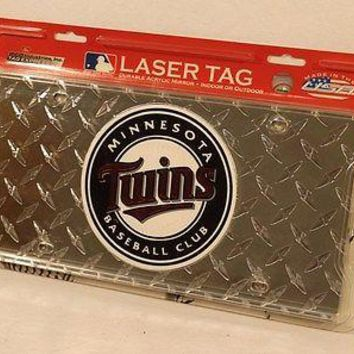 Minnesota Twins MLB Laser Cut Diamond Plate License FREE US SHIPPING