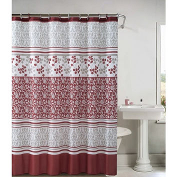 "Lyon Embossed Microfiber Shower Curtain- 72""x 72"""