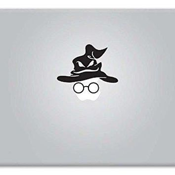 Harry Potter Sorting Hat and Glasses Decal Vinyl Sticker Macbook Apple Mac Air Pro Retina Laptop