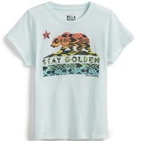 Girl's Billabong 'Stay Golden' Graphic Tee,