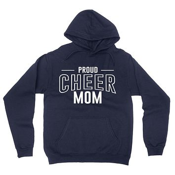 Proud cheer mom team squad game day sport mom love cheerleading Mother's day hoodie