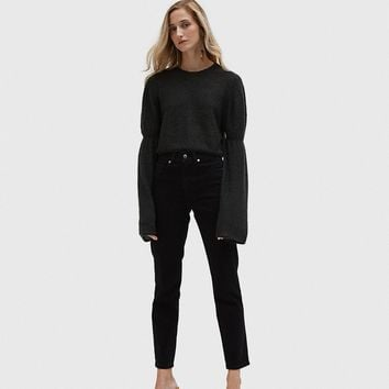 Lemaire / Long Puff Sleeve Sweater in Anthracite