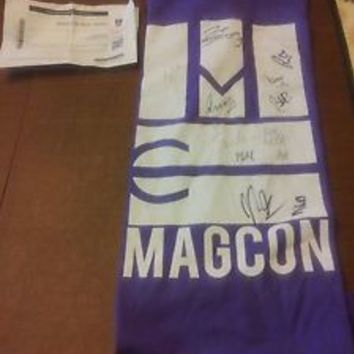 MAGCON TOUR NJ SIGNED T SHIRT MEDIUM 4/12/14