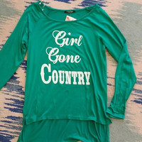 Girl Gone Country Top - Green