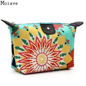 Women Cosmetic Bag Makeup Bag Neceser Portable Make Up Bag Case Floral Print  Organizer Bolsa feminina Travel Toiletry Bag D36