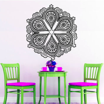 Wall Decals Mandala Indian Pattern Yoga Oum Om Sign Decal Vinyl Sticker Home Decor Art Murals Bedroom Studio Window MN483