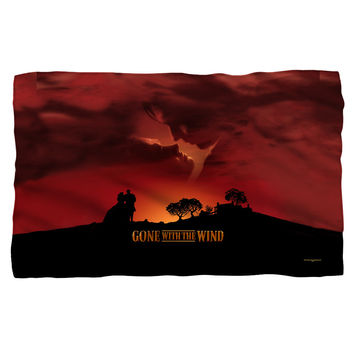 GONE WITH THE WIND/SUNSET-FLEECE BLANKET-WHITE-36x58