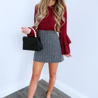 Endless Potential Blouse: Burgundy