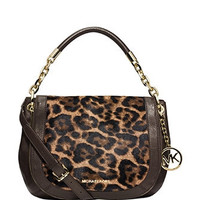 Michael Michael Kors Stanthorpe Medium Leopard Haircalf Shoulder Bag