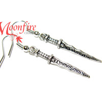 ONCE UPON A TIME Emma Swan Rumpelstiltskin Dagger Earrings