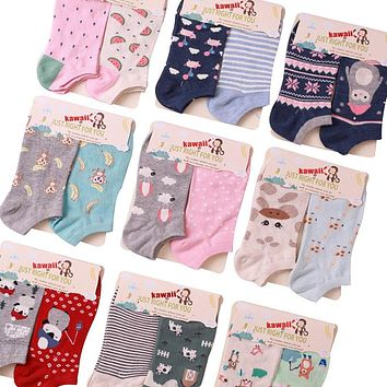 Animal Pattern Cotton Boat Socks Funny Crazy Cool Novelty Cute Fun Funky Colorful