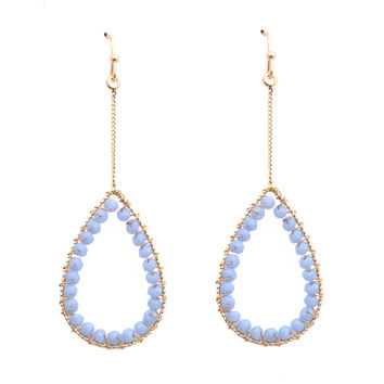 Dropping In Earrings In Powder Blue