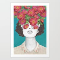 The optimist // rose tinted glasses Art Print by lauragraves