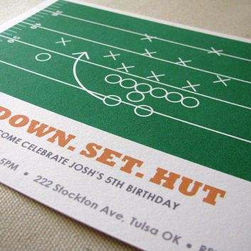 Football Birthday Invitation Football Watch Party by EllisonReed