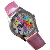 My Little Pony (s) on a Girls Pink Leather Wrist Watch [Watch]