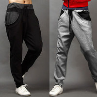Man Men's Korean Trendy HOT SELL Casual Drawstring Harem Training Pants Trousers