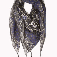 Eclectic Print Woven Scarf