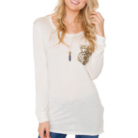 End Of The Line Pocket Top - White
