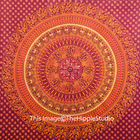 Hippie Mandala Tapestries, Tapestry Wall Hanging, Bohemian Tapestries, Boho Wall Tapestries, Indian Bed Cover, Ethnic Decor, Dom Tapestries