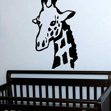 Vinyl Wall Art Decal Sticker Giraffe Neck for Kids Room #146