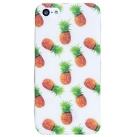 Clear Multicolor Pineapple Beach Summer iPhone 5C/S/5 case