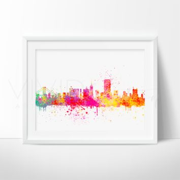 San Francisco Skyline Watercolor Art Print