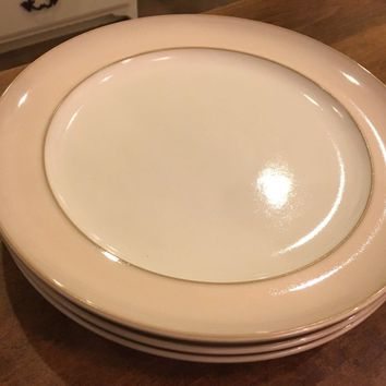 "Set of 2 - Denby Langley Natural Pearl 11"" Replacement Stoneware Dinner Plates"