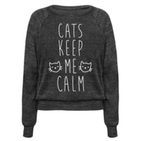 CATS KEEP ME CALM PULLOVERS