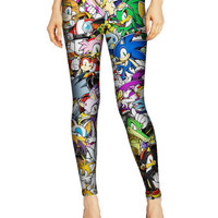 Cartoon Characters Printed Pattern Leggings