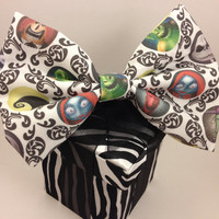 Nightmare Before Christmas - Oversized Hair Bow French Barrette Clip