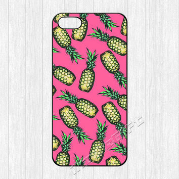Pineapple iPhone 5 Case,Pineapple iPhone 5 5s Case,Cute Pink Pineapple Hard Plastic Rubber cover skin for iphone 5/5s cases,More styles