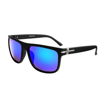 Mirror Lens Unisex Fashion Square Flat Top Shades Matte Black FT79
