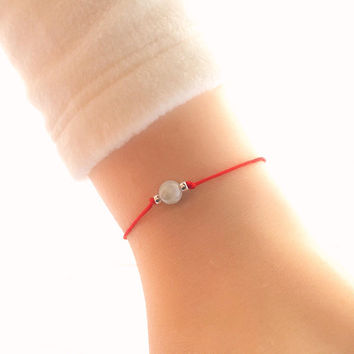 NEW STYLE Burma Jade Bracelet - Green Jade Bracelet - Burmese Jade Bracelet - Red String - Good Luck Bracelet - Red String Bracelet