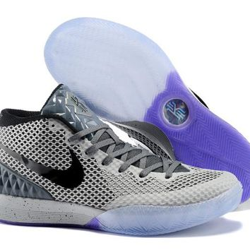 HCXX Men's Nike Zoom Kyrie 1 Basketball Shoes Grey 40-46